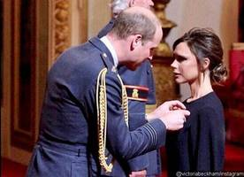 Victoria Beckham Receives OBE From Prince Williams, but Twitter Is Unimpressed