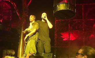 Travis Scott Is Joined by Drake at Portland Show