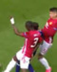Watch tackle on Manchester United's Rojo that may see him out for the rest of the season