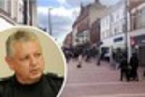 Dog attacks police officer in Derby city centre