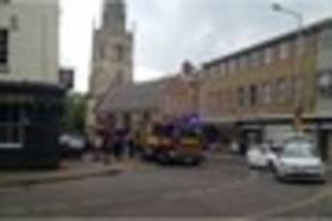 Fire in pub forces closure of city centre street