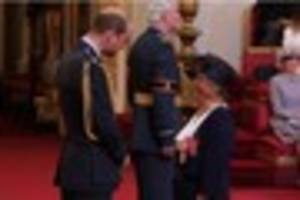 Prince William presents MBE to dedicated charity worker Jean...