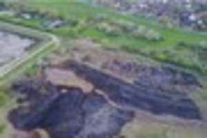 south woodham ferrers aerial pictures show devastation of fire
