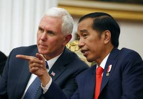 US Vice President praises moderate Islam in Indonesia in bid to heal divisions