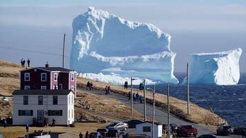vast iceberg looms over canada's newfoundland coast