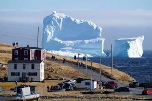 Giant iceberg visits Canadian town of Ferryland in rare sighting; videos