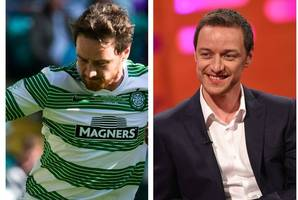 james mcavoy set for celtic encore as he prepares to pull his boots on for charity match