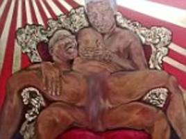 outrage over nelson mandela sex act painting