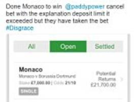 paddy power refuse to pay out on dortmund and monaco bet