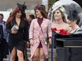 scottish grand national racegoers arrive for ladies day