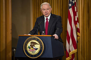 Jeff Sessions Refuses to Rule Out Criminal Prosecutions of Mainstream Press