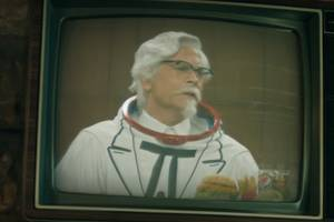 watch rob lowe chicken out as kfc's new colonel sanders (video)