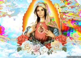 kim kardashian gets bashed after transforming into virgin mary for newest kimoji