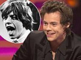 harry styles drops hint he will play young mick jagger