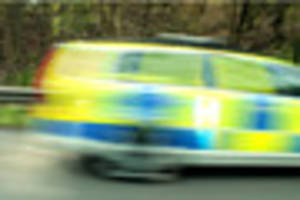 police cars and helicopter chase vauxhall astra through derby