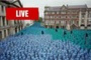 Live updates as Spencer Tunick's Sea of Hull is revealed at...