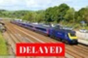 devon trains delayed after vehicle smashes into level crossing...