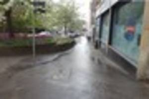 A burst water pipe caused significant flooding in Ashford High...