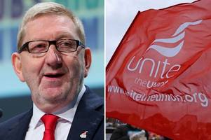 len mccluskey wins unite leadership election to serve third term as general secretary