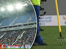 russia world cup 2018 ground opens with three red cards