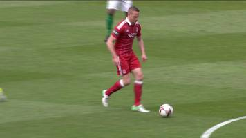 adam rooney puts aberdeen ahead against hibs after 12 seconds