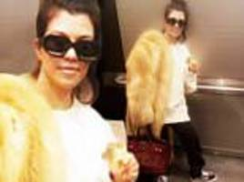 Twitter fumes at Kourtney Kardashian's fur