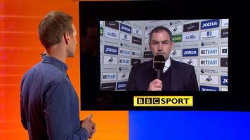 swansea 2-0 stoke: paul clement says swans have winning 'momentum'
