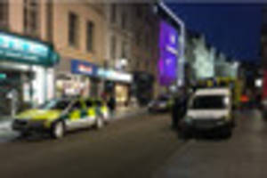man arrested following alleged stabbing in exeter city centre