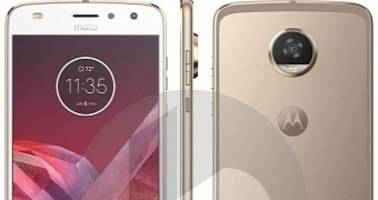 Moto Z2 Play Portrayed in Leaked Press Renders