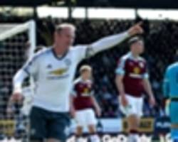 Burnley 0 Manchester United 2: Rooney makes goalscoring return in Ibrahimovic's absence