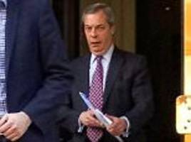 is farage acting as a courier for assange?