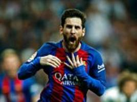 lionel messi wins el clasico with 500th goal for barcelona
