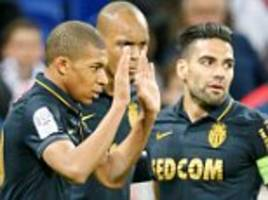 Lyon 1-2 Monaco: Falcao and Mbappe hit top spot in Ligue 1