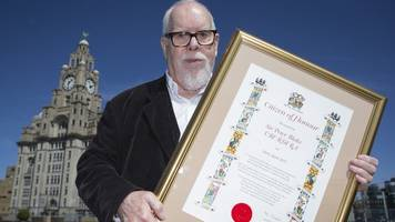 sgt pepper artist made 'honorary scouser' in liverpool