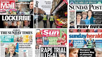Scotland's papers: Tory 'shock' poll and Lockerbie appeal