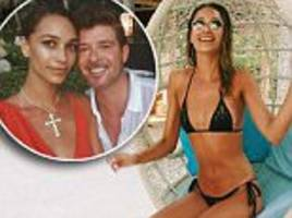 april love geary and robin thicke sizzle in the maldives
