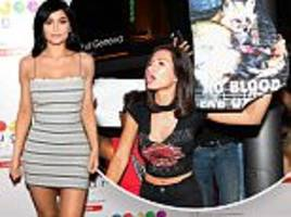 kylie jenner exhibits figure in dress at las vegas event