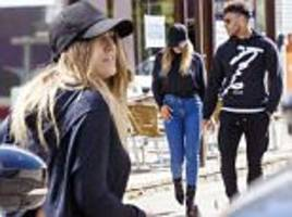 perrie edwards steps out with beau alex oxlade-chamberlain