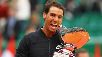 monte carlo masters: rafael nadal beats albert ramos-vinolas for record 10th title
