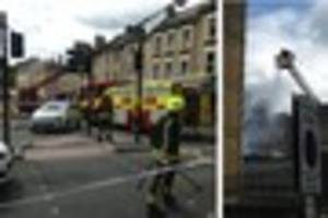 bath roads closed as fire and police tackle city centre blaze
