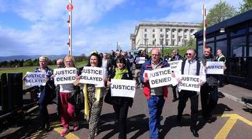 Child abuse survivors march at Stormont calling for justice