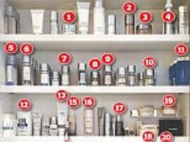 inside catherine zeta-jones' bathroom cabinet