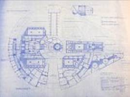 Star Wars and Star Trek blue prints up for sale
