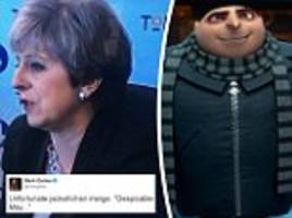Theresa May is compared to Despicable Me character