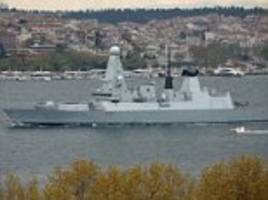 Royal Navy ship sails into the Black Sea towards Russia