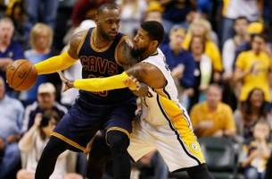 james, cavs advance with sweep of pacers