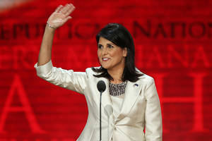 trump jokes about firing nikki haley – in front of nikki haley (video)