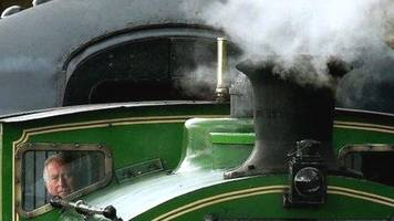 prince charles drives restored steam train at milton of crathes