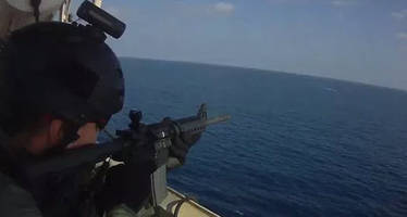 caught on tape: u.s. security contractors open fire on somali pirates