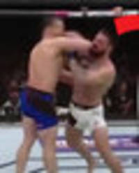 UFC star wins bout after BRUTAL elbow to skull leaves opponent KO'd for 'several minutes'